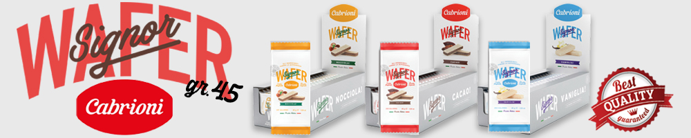 WAFER CABRIONI GR.45Il signor wafer in tre fantastici gusti!